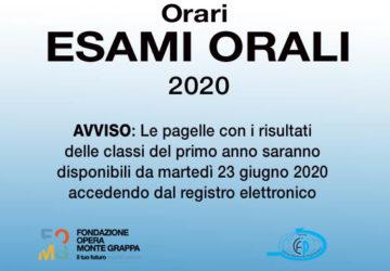 CFP ORARI ESAMI 2020